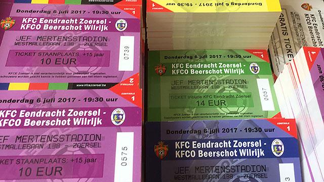 Ticketinfo KFCEZ - Beerschot Wilrijk