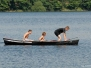 Kanovaren op het meer van Bütgenbach